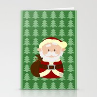 santa Stationery Cards featuring Santa by Alapapaju