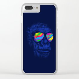 Blue Gorilla Clear iPhone Case