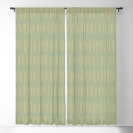 Earthy Green on Sweet Pea Green Parable to 2020 Color of the Year Back to Nature Bold Grunge Dashes Blackout Curtain