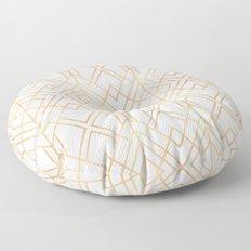 Golden Geo Floor Pillow