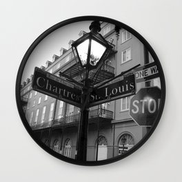 French Quarter, New Orleans streets Wall Clock
