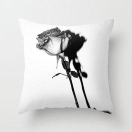 Single Rose Still Throw Pillow