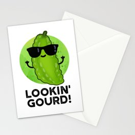 Lookin Gourd Cute Cool Veggie Pun Stationery Cards