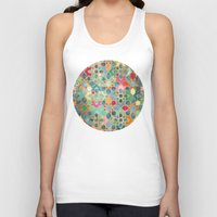 moroccan Tank Tops featuring Gilt & Glory - Colorful Moroccan Mosaic by micklyn
