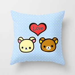 Bear Love Throw Pillow