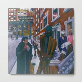 Portrait of Harlem, NY African American Masterpiece by E. Burra Metal Print