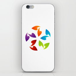Abstract flora- colorful flower iPhone Skin