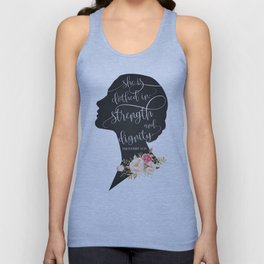 She is Clothed in Strength and Dignity Unisex Tank Top