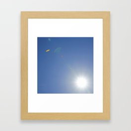 Up in the air.... Framed Art Print