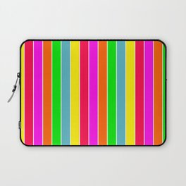 Neon Hawaiian Rainbow Deck Chair Stripes Laptop Sleeve