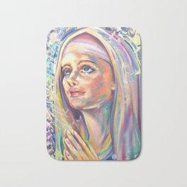 Saint Clare of Assisi, potrait Bath Mat