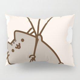 Cat Flying Pillow Sham