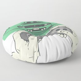 drive faster Floor Pillow