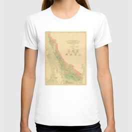 Vintage Geological Map of Juneau Alaska (1912) T-shirt
