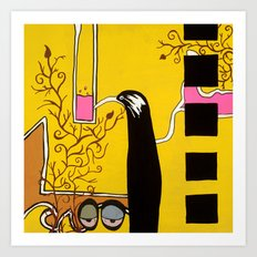 SIPPING the SWEET NECTAR of LIFE Art Print