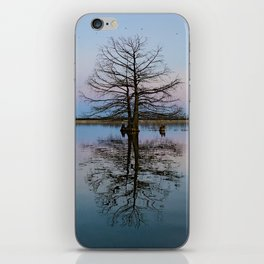 Tree Reflecting in Lake-I iPhone Skin