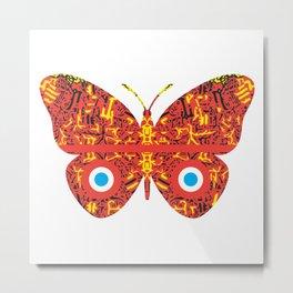 War Butterflies Series x Manuel Jaen Metal Print