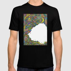 Night sky to look from the cave Mens Fitted Tee Black MEDIUM