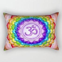 Sahasrara Chakra - Crown Chakra Rainbow Lotus - Series V Rectangular Pillow
