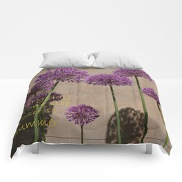 one step closer to summer Comforters