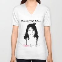 britney spears V-neck T-shirts featuring Britney Spears Baby Legend by franziskooo