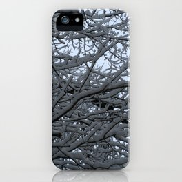 Tree at snow. iPhone Case