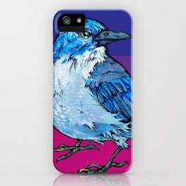 L'il Lard Butt Graphic Scrub Jay iPhone Case