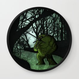 Swamp Creature Wall Clock