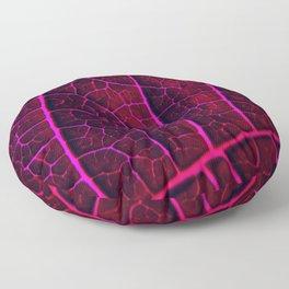 LEAF STRUCTURE RED VIOLET Floor Pillow