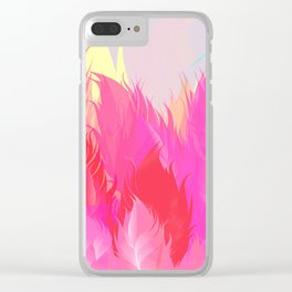 After The Rain Magenta Pink Clear iPhone Case