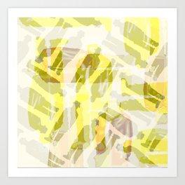 Yellow Buckets Art Print