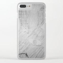 Graffiti Fat Cat 3 Clear iPhone Case