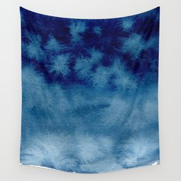 Blue Watercolor Wash Wall Tapestry