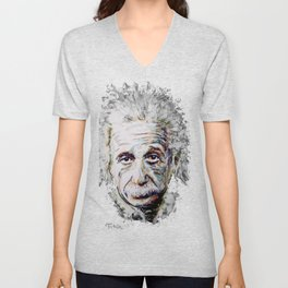 Albert Einstein - brainstorm Unisex V-Neck