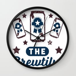 AMERICA THE BREWTIFUL T-SHIRT Wall Clock
