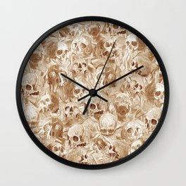 many many Skulls Wall Clock