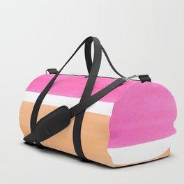 Colorful Bright Minimalist Rothko Pastel Pink Peach Midcentury Modern Art Vintage Pop Art Duffle Bag