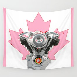 Portuguese Canadian Biker Hot Pink Culture. Wall Tapestry