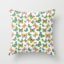 Butterflies in harmony Throw Pillow