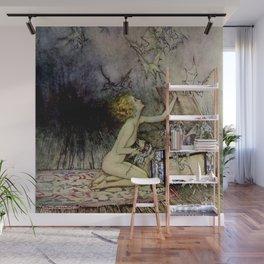 """""""Pandora Opens the Box"""" by Arthur Rackham Wall Mural"""
