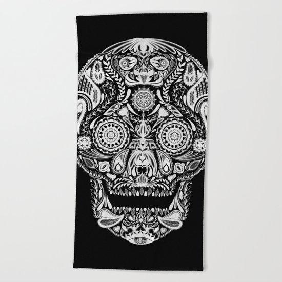 Mexican Halloween Beach Towel