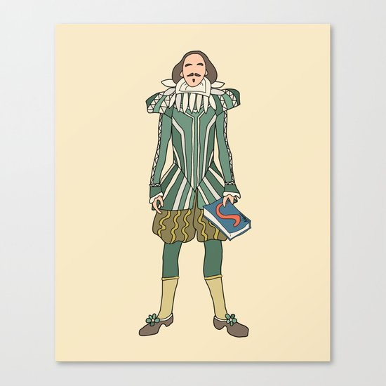 Outfit of Shakespeare Canvas Print