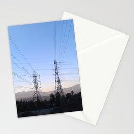 Electric Sky Line Stationery Cards