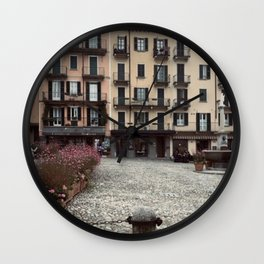 Town Square - Bellagio, Italy Wall Clock