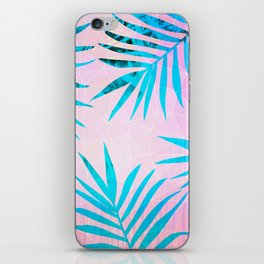 Refreshing Geometric Palm Tree Leaves Tropical Chill Design iPhone Skin