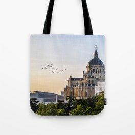 Almudena cathedral of Madrid Tote Bag