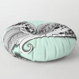 Poisonous Dragon-Teal Palette Floor Pillow