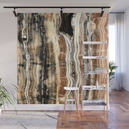 Creamy Caramel and Chocolate Fudge Marble Pattern Wall Mural