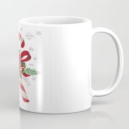 Vintage Merry Christmas Candy Cane Coffee Mug