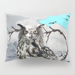 WILDERNESS OWL IN TREE &  BLUE  SKIES Pillow Sham